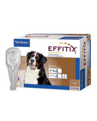 Virbac Effitix Spot On Antiparassitario per Cani EXTRA LARGE OLTRE 40 Kg