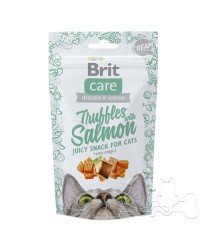 snack gatto brit truffles salmon