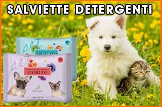 salviette detergenti per cane e gatto